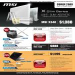MSI Notebook Ultra Thin X340 X320 Entertainment EX460
